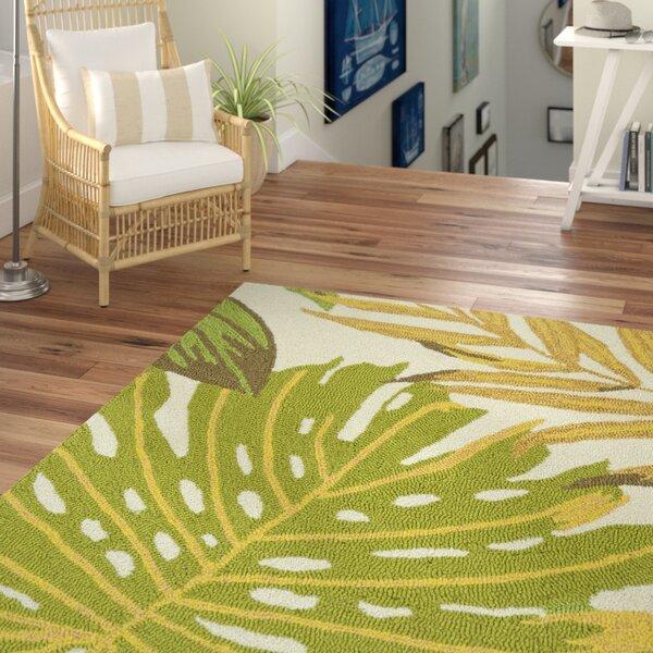 Brianna Handmade Green/White Indoor/Outdoor Area Rug by Beachcrest Home