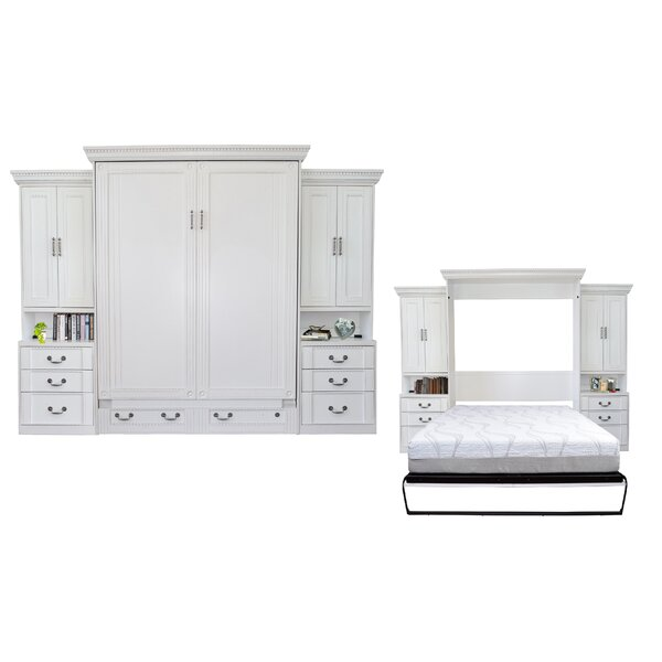 Cedarville Queen Storage Murphy Bed by Rosecliff Heights