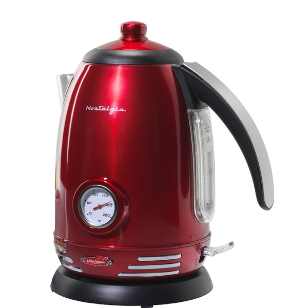 1.7 Qt. Stainless Steel Electric Tea Kettle by Nostalgia