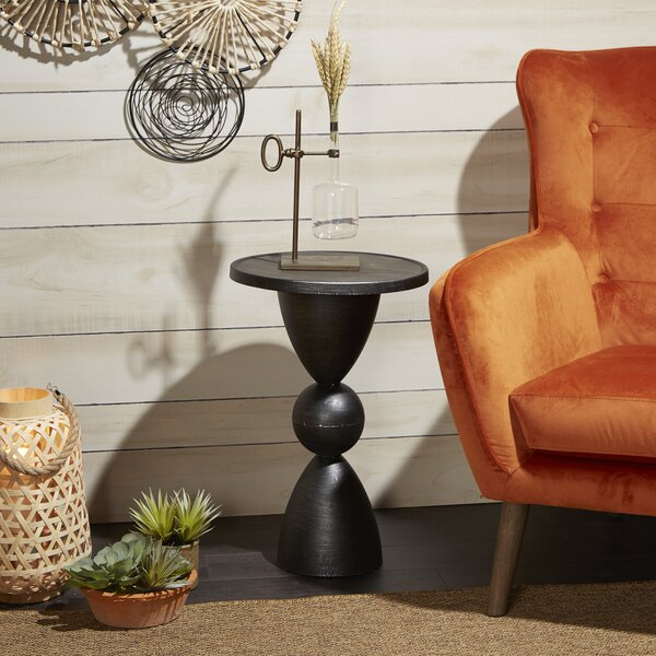 Magnus Round End Table by Bloomsbury Market