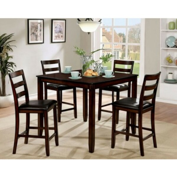 Matisse Transitional Counter Height 5 Piece Pub Table Set by Red Barrel Studio