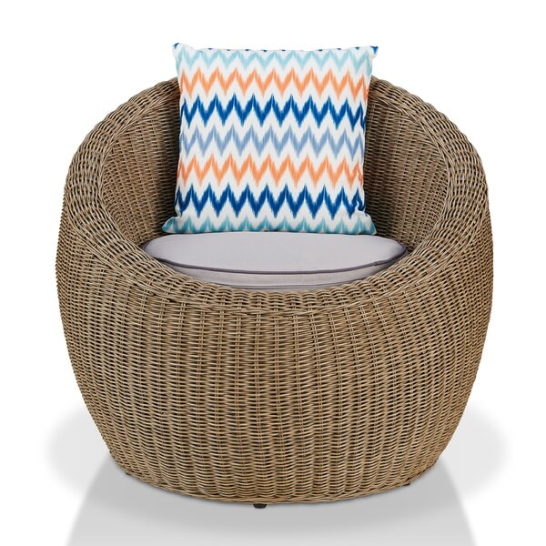 Fischer Patio Chair with Cushions by Bayou Breeze