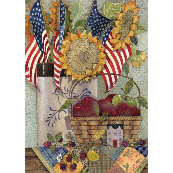 American Sunflower Garden flag by Toland Home Garden
