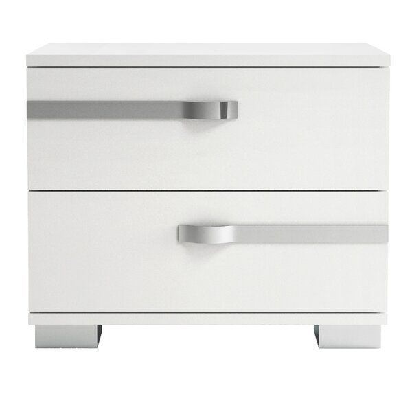 Quiana 2 Drawer Nightstand by Orren Ellis