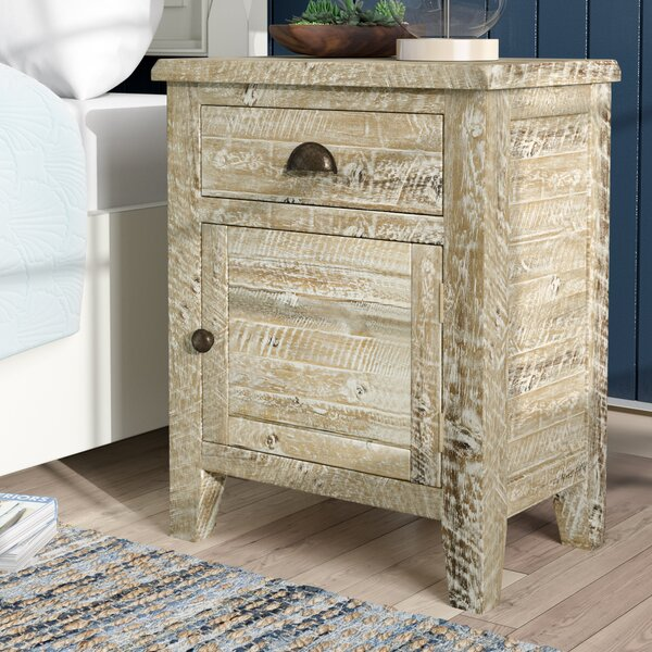 Leonora 1 Drawer Nightstand by Highland Dunes