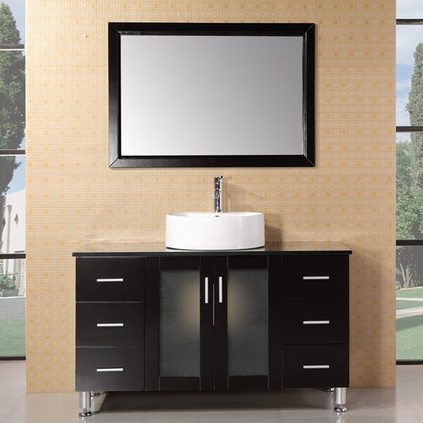 Palm Springs 47 Single Bathroom Vanity Set with Mirror by dCOR design