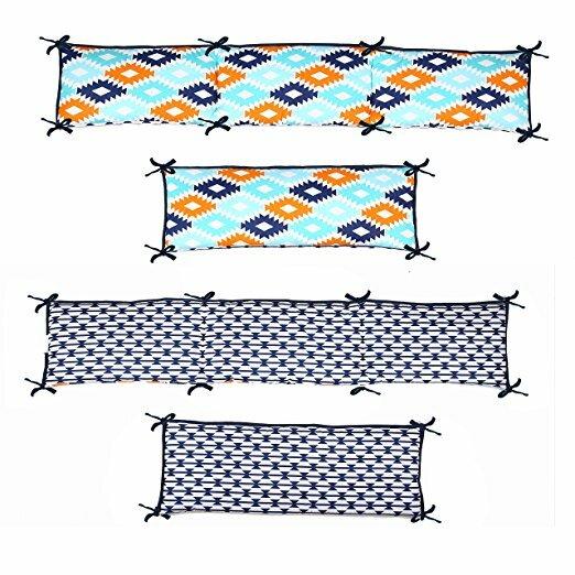 Liam Aztec 4 Piece Bumper Pad Set by Bacati