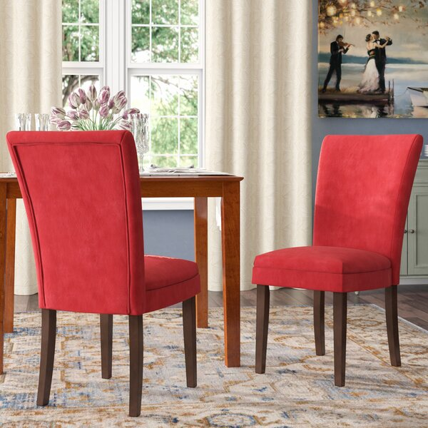 Doerr Side Upholstered Dining Chair (Set of 2) by Charlton Home