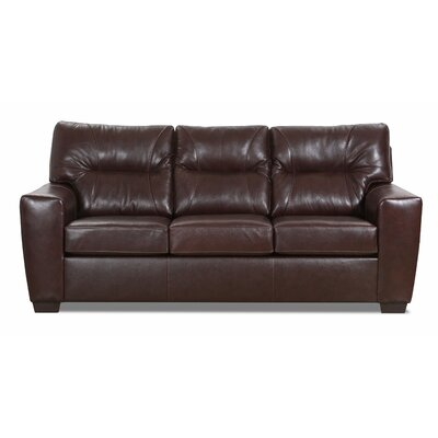 Oleary Leather Sofa Bed Williston Forge Upholstery Color: Chestnut