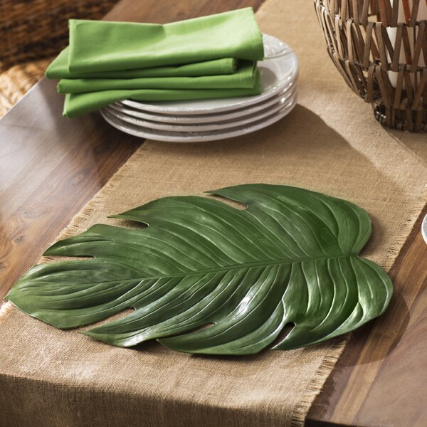 Angus Leaf Placemat (Set of 4) by Beachcrest Home