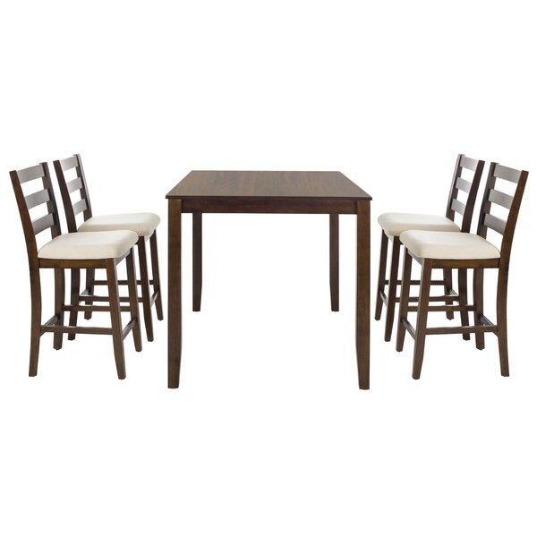 Hervey Bay 5 Piece Pub Table Set by Alcott Hill