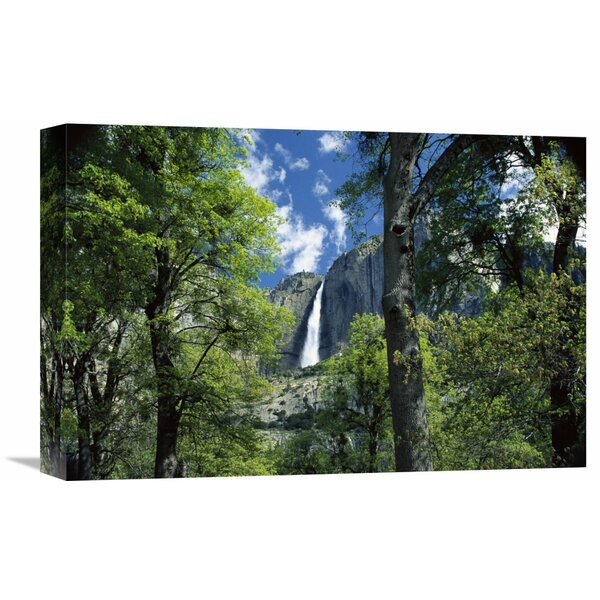 Nature Photographs Bridal Veil Falls Tumble 620 Feet to The Valley Floor, Yosemite National Park, California by Tim Fitzharris Photographic Print on Wrapped Canvas by Global Gallery