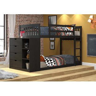Great Price Ewart Mission Twin over Twin Bunk Bed with Chest and Storage ByHarriet Bee