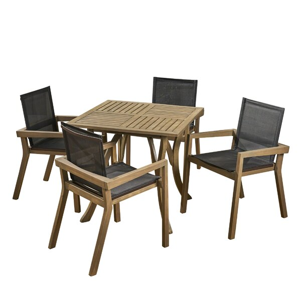 Ethan Outdoor 5 Piece Dining Set By Union Rustic