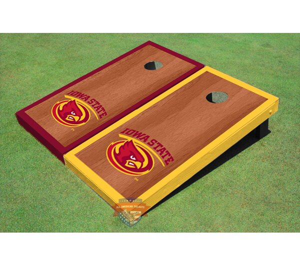 NCAA Rosewood Alternating Border Cornhole Board (Set of 2) by All American Tailgate