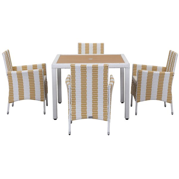 Thorntown 5 Piece Dining Set by Breakwater Bay