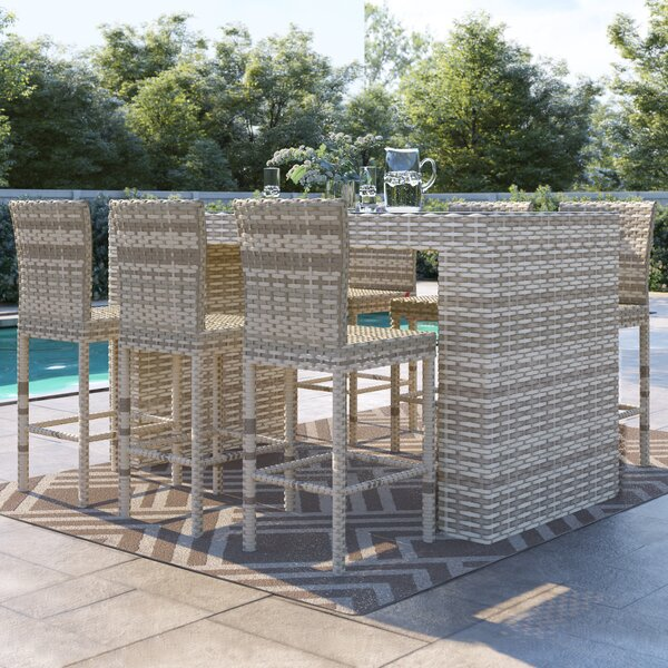 Falmouth 7 Piece Bar Height Dining Set by Sol 72 Outdoor
