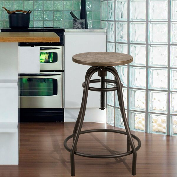 Logan Adjustable Height Bar Stool by Adeco Trading