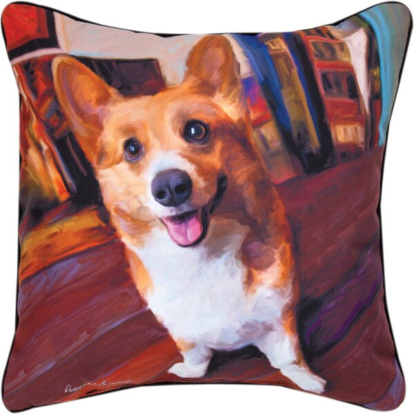 Corgi Get Low Throw Pillow by Manual Woodworkers & Weavers