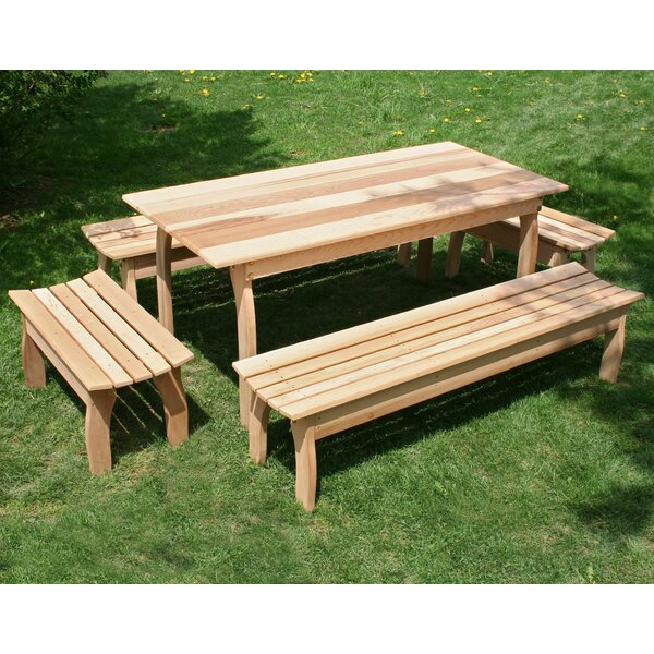 Tifton Cedar Family Dining Set by Millwood Pines