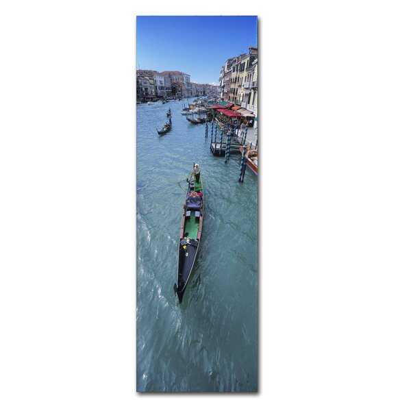 Gondola Canal by John Xiong Photographic Print on Wrapped Canvas by Trademark Fine Art