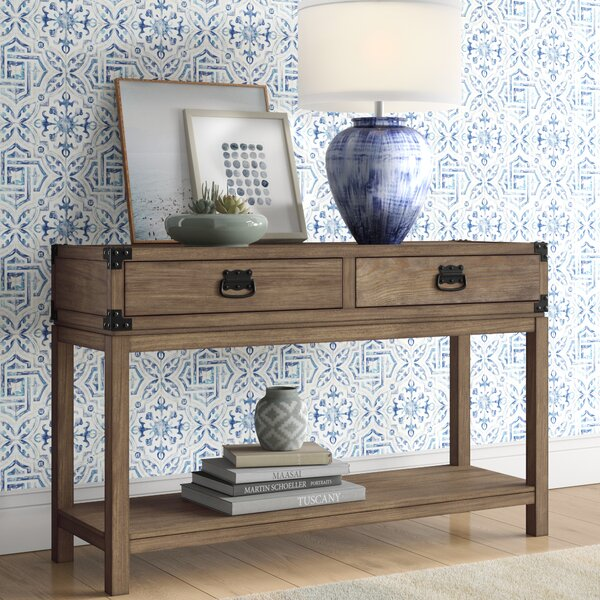 Review Chasity 2 Drawer Console Table
