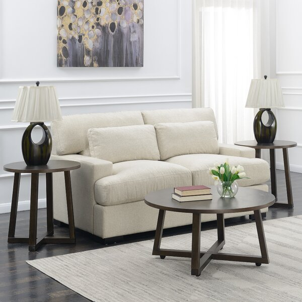 Rene 3 Piece Coffee Table Set by George Oliver George Oliver