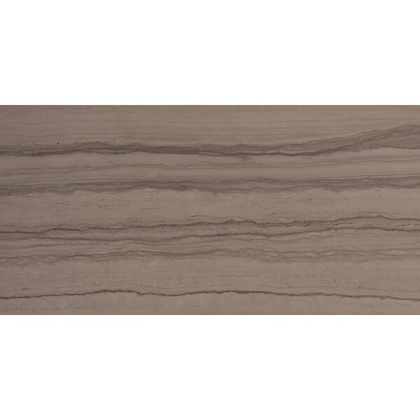 Metro 3 x 6 Marble Wood Look Tile in Vein Cut Honed Taupe by Emser Tile