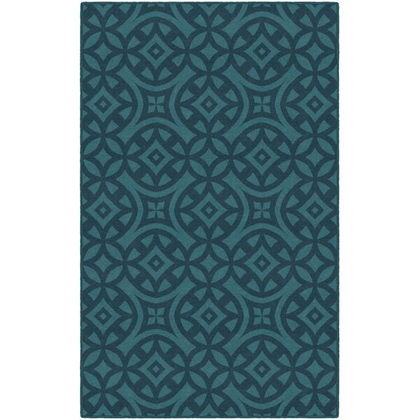 Merrill Trellis Turquoise Area Rug by World Menagerie