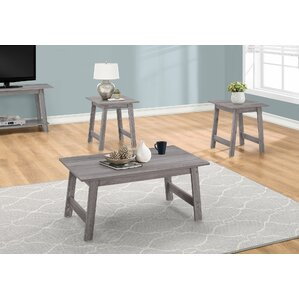 Kona 3 Piece Coffee Table Set