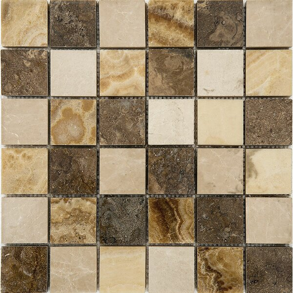 Bosphorus Marble 2 x 2 Stone Mosaic Tile in Onyx Beige Polished by Parvatile