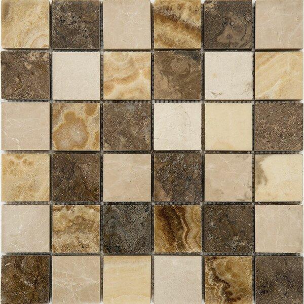 Bosphorus Marble 2 x 2 Stone Mosaic Tile in Onyx Beige Polished by Parvatile