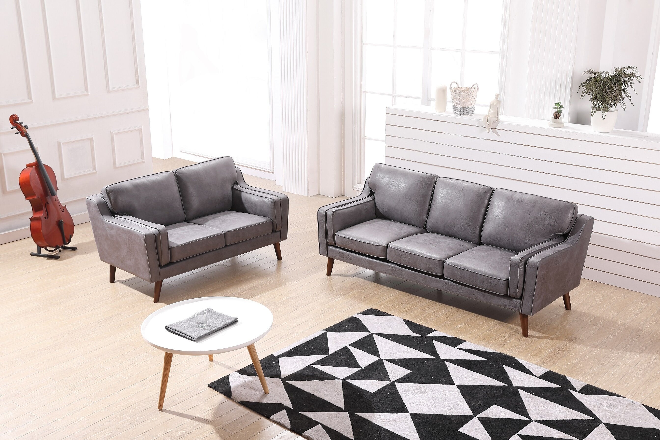 Westbury Modern Luxurious 2 Piece Living Room Set