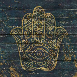 Hamsa Painting Print on Wrapped Canvas by East Urban Home