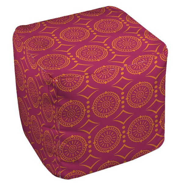 Banias Medallion Pouf by Manual Woodworkers & Weavers