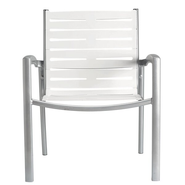 South Beach Ez Span™ Stacking Patio Dining Chair by Tropitone