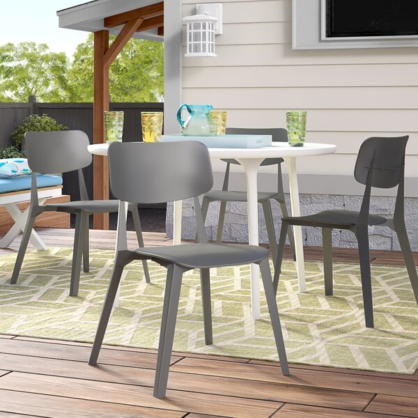 Stellar Stacking Patio Dining Chair by TOOU