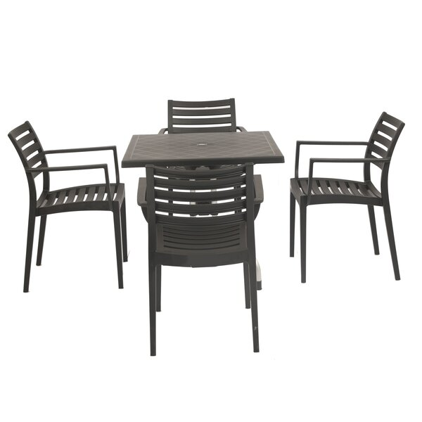 Commercial Grade 5 Piece Dining Set by String Light Company