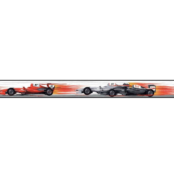 Cool Kids Race Car Wall Border by York Wallcoverings