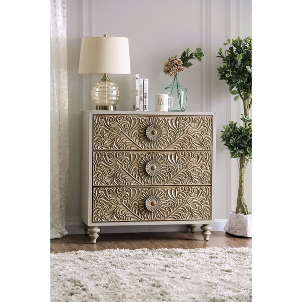 Massira 3 Drawer Bachelors Chest by Bungalow Rose
