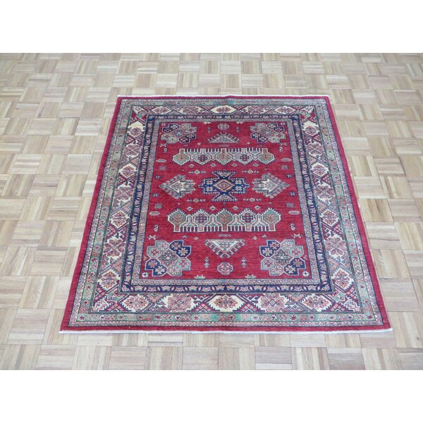 One-of-a-Kind Padula Shirvan Hand-Knotted Wool Red Area Rug by Bloomsbury Market