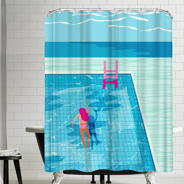 Wacka Designs In Deep Shower Curtain by East Urban Home