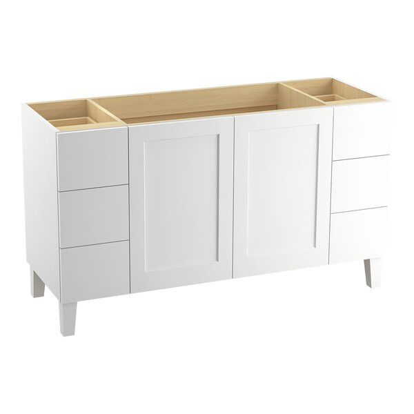 Poplin™ 60 Vanity with Furniture Legs, 2 Doors and 6 Drawers, Split Top Drawers by Kohler
