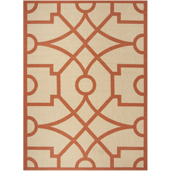 Martha Stewart Fretwork Beige / Terracotta Area Rug by Martha Stewart Rugs