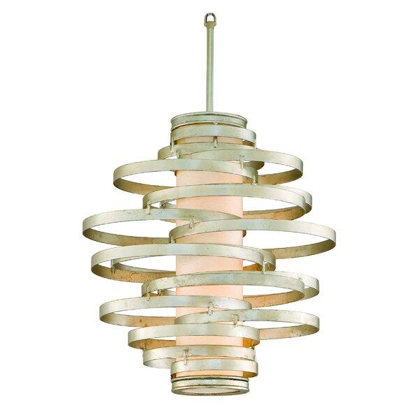 Vertigo 6-Light Unique / Statement Geometric Chandelier By Corbett Lighting