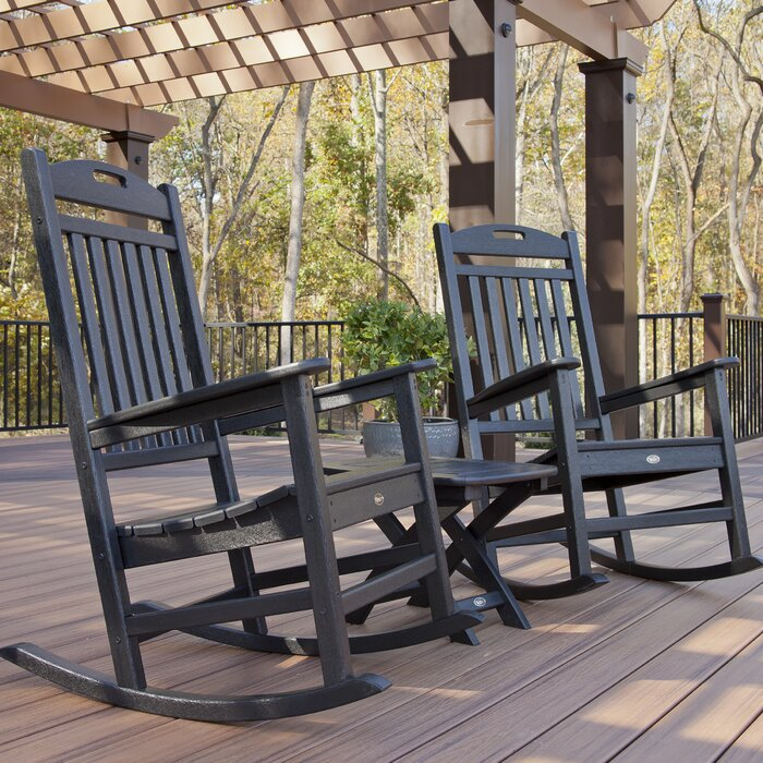 Phenomenal Trex Outdoor Yacht Club 3 Piece Rocker Set Creativecarmelina Interior Chair Design Creativecarmelinacom