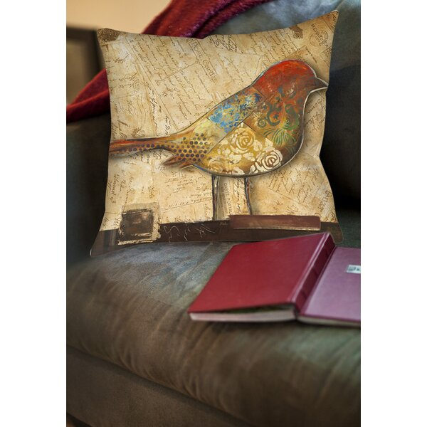 Double Sided Bird Printed Throw Pillow by East Urban Home