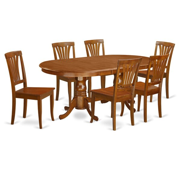 Germantown 7 Piece Extendable Solid Wood Dining Set by Darby Home Co Darby Home Co