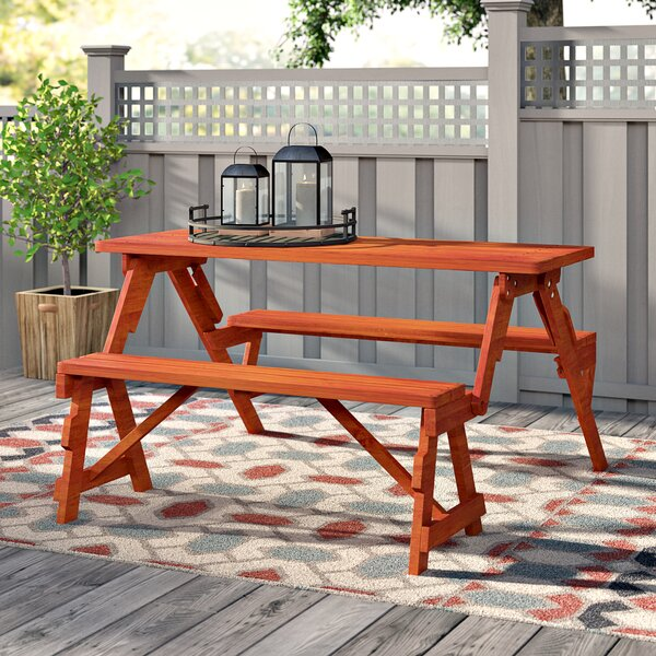 Dreiling Convertible Wooden Picnic Table & Garden Bench by Andover Mills Andover Mills