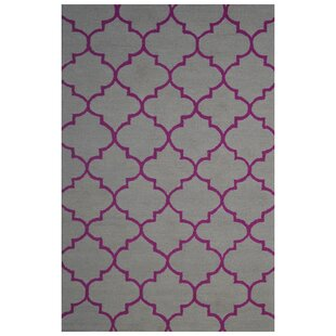 Compare prices Wool Hand-Tufted Gray/Pink Area Rug ByEastern Weavers